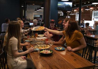 Sharing PIzza at Tildas Restaurant